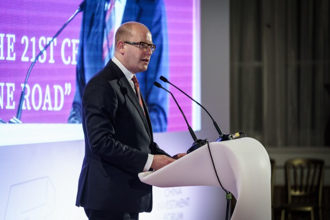 捷克政府总理索博特卡访华并与中东欧16国总理会晤