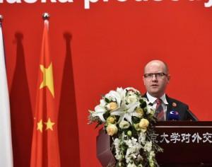 Cesta předsedy vlády ČR Bohuslava Sobotky zaujala čínská média