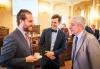 Prof. Ryan Abbott, UCLA, Jan Růžička, zmocněnec ministra zdravotnictví a Doc. Leoš Heger, místopředseda zdravotního výboru